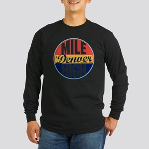 Denver Vintage Label W Long Sleeve Dark T-Shirt