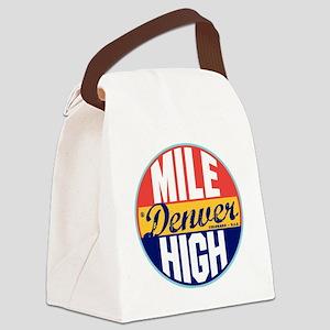 Denver Vintage Label W Canvas Lunch Bag