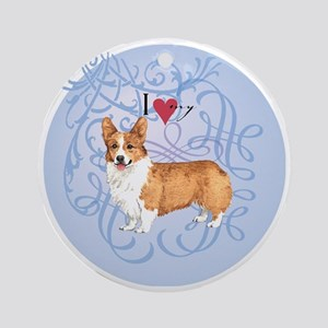 pembroke-charm2 Round Ornament