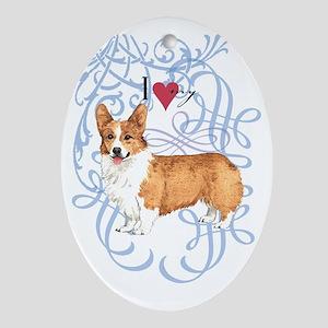 pembroke-oval charm Oval Ornament