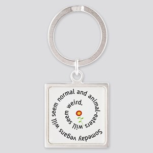 normal-4wht-flower Square Keychain