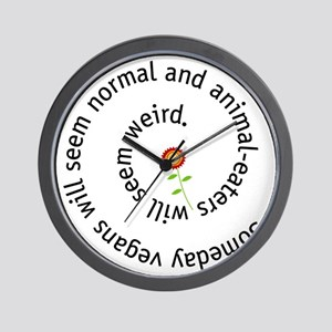 normal-4wht-flower Wall Clock