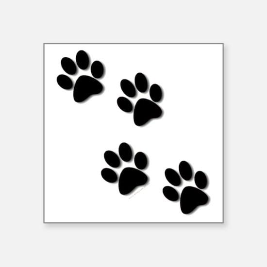 "paws.gif Square Sticker 3"" x 3"""