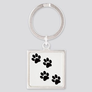 paws Square Keychain