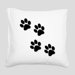 paws Square Canvas Pillow