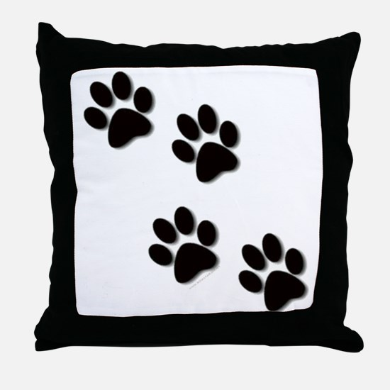 paws.gif Throw Pillow