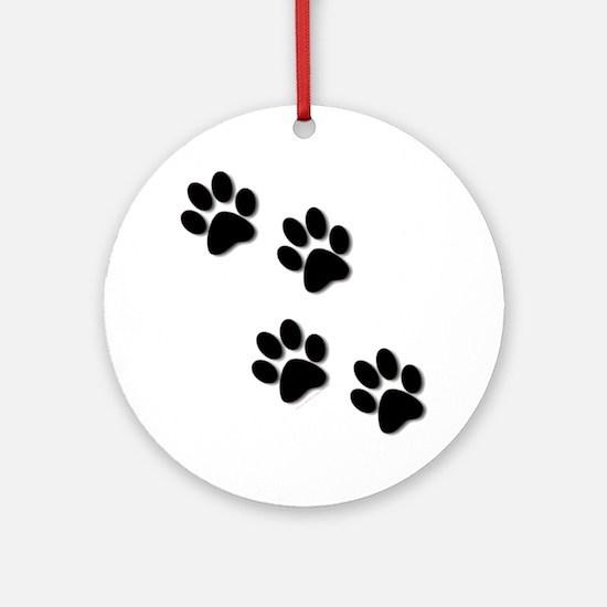 paws.gif Round Ornament
