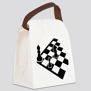 chess_field_w_figures Canvas Lunch Bag