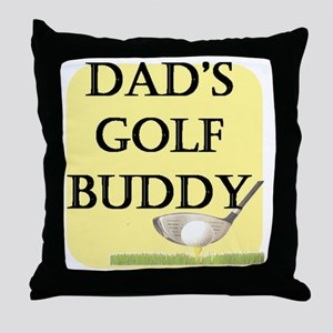 dads golf buddy Throw Pillow