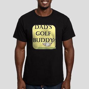 dads golf buddy Men's Fitted T-Shirt (dark)