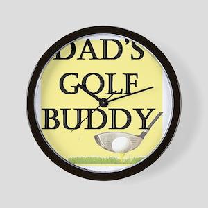 dads golf buddy Wall Clock