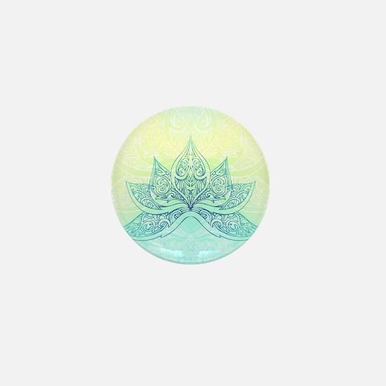 Pale Blue Lotus Mini Button