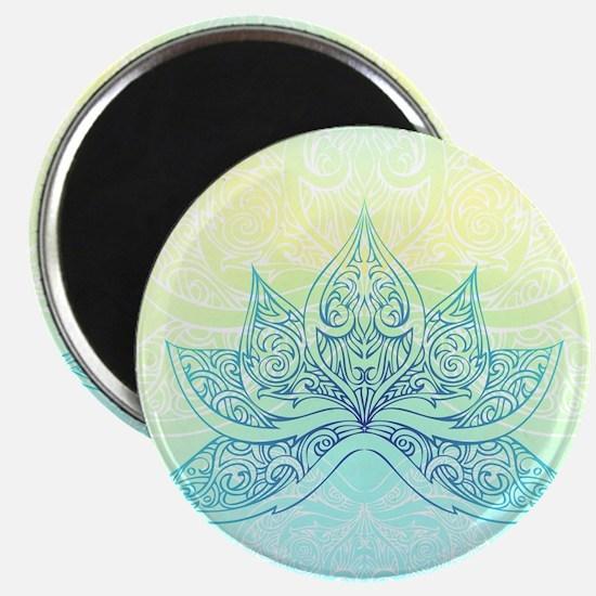 Pale Blue Lotus Magnet
