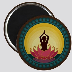 Sunrise Yoga Art Magnet