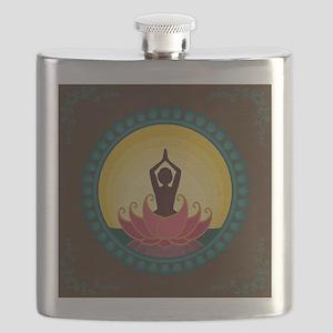 Sunrise Yoga Art Flask