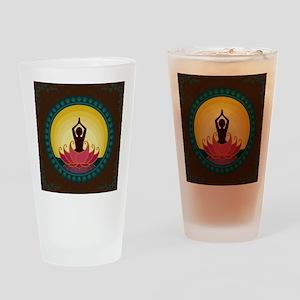 Sunrise Yoga Art Drinking Glass