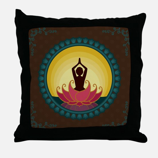Sunrise Yoga Art Throw Pillow