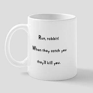 Run, rabbit! Mug
