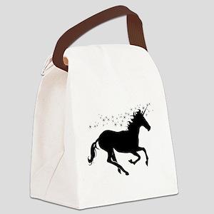 Magical Unicorn Silhouette Canvas Lunch Bag