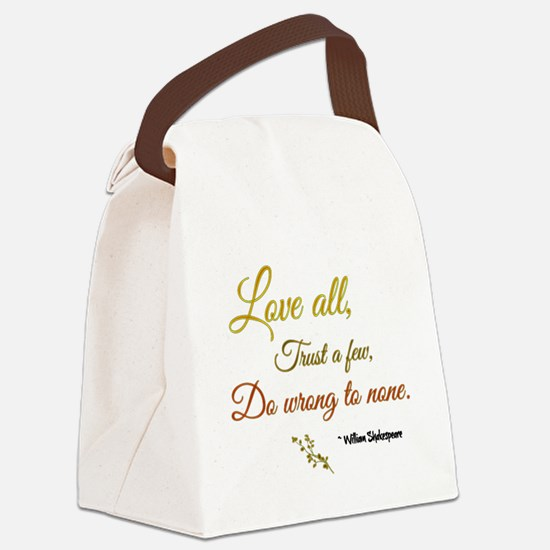 Love All ... Canvas Lunch Bag