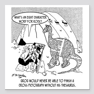 "7190_archaeology_cartoon Square Car Magnet 3"" x 3"""