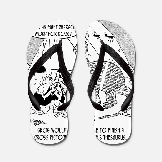7190_archaeology_cartoon Flip Flops