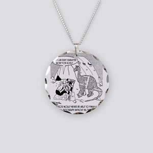 7190_archaeology_cartoon Necklace Circle Charm
