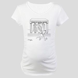 5999_museum_cartoon Maternity T-Shirt