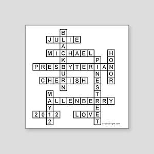 "Blackburn Square Sticker 3"" x 3"""