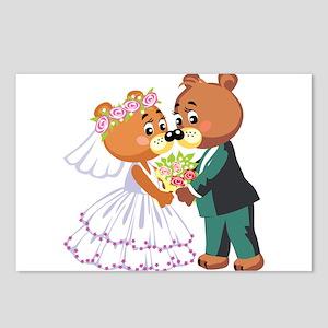 Bride and Groom Postcards (Package of 8)