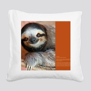 January BC Square Canvas Pillow