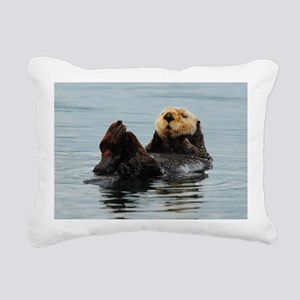 385x245_wallpeel_otter_2 Rectangular Canvas Pillow