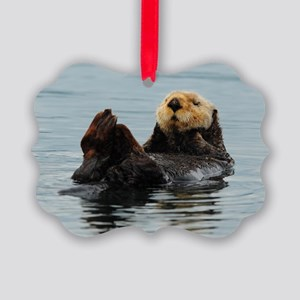 385x245_wallpeel_otter_2 Picture Ornament