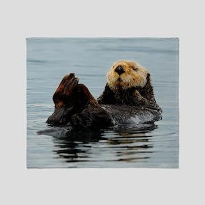 385x245_wallpeel_otter_2 Throw Blanket