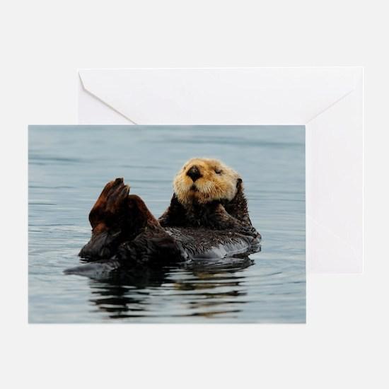 385x245_wallpeel_otter_2 Greeting Card