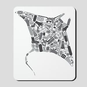 Mantaray SCUBA Equipment Collage Mousepad
