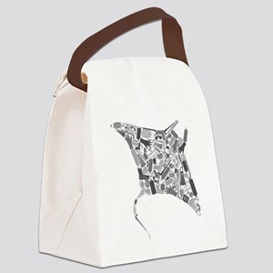 Mantaray SCUBA Equipment Collage Canvas Lunch Bag