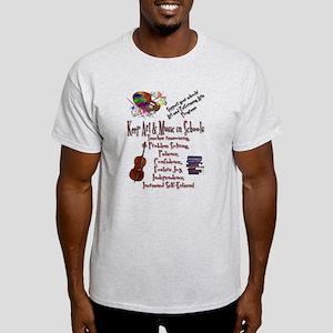 ArtnMusic Educ Msg Light T-Shirt