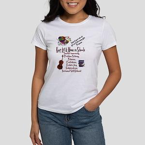ArtnMusic Educ Msg Women's T-Shirt