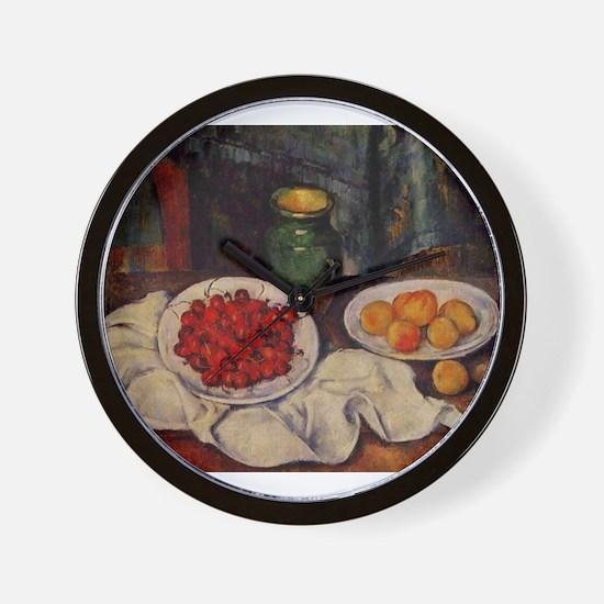Still life with cherries and peaches - Paul Cezann