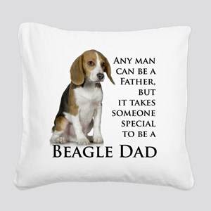 Beagle Dad Square Canvas Pillow