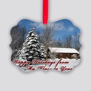 christmas-card Picture Ornament