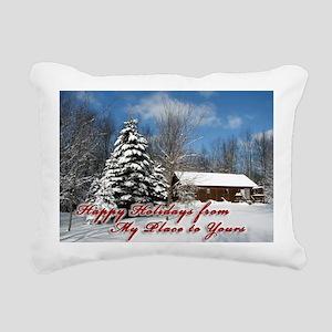 christmas-card Rectangular Canvas Pillow