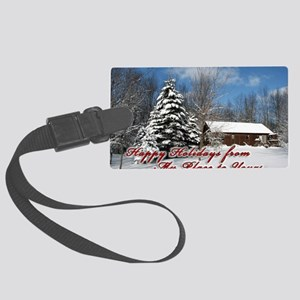 christmas-card Large Luggage Tag