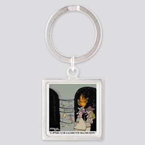 3959_kosher_cartoon Square Keychain