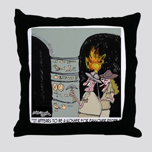 3959_kosher_cartoon Throw Pillow