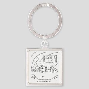 6562_gum_cartoon Square Keychain