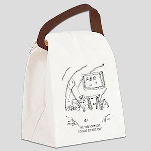 6562_gum_cartoon Canvas Lunch Bag