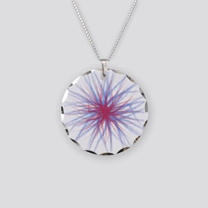 redblue Necklace Circle Charm