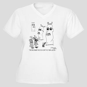 7942_mcmac_cartoo Women's Plus Size V-Neck T-Shirt